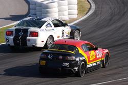 #6 Blackforest Motorsports Ford Mustang GT: Greg Gimbert, Edmund Hennessy, Matt Varsha, #43 Team Sahlen Mazda RX-8: Joe Nonnamaker, Joe Sahlen