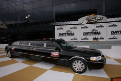 The six contenders for the Raybestos Rookie of the Year arrive in a limo