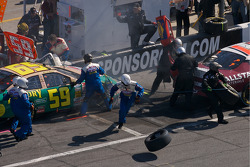 Pit stop gone bad for Marcos Ambrose