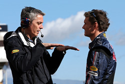 Anthony Burrows, Test Team Manager, Red Bull Racing and David Coulthard