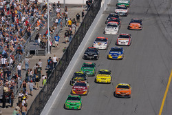 Kyle Busch leads the field