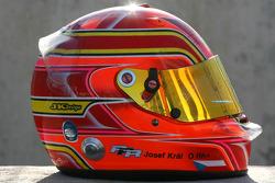 Josef Kral, driver of A1 Team Czech Republic, helmet