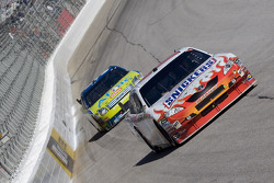Kyle Busch leads Carl Edwards