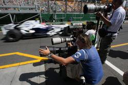 Robert Kubica,  BMW Sauber F1 Team is passing the photographers