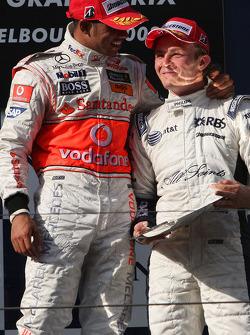 Lewis Hamilton, McLaren Mercedes and Nico Rosberg, WilliamsF1 Team