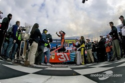 Victory lane: Jeff Burton celebrates