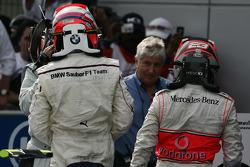 Second place Robert Kubica and third place Heikki Kovalainen