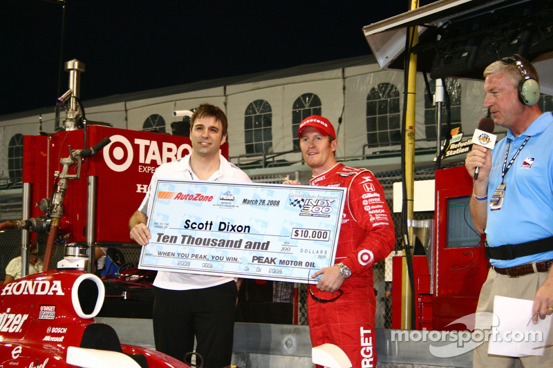 Pole winner Scott Dixon