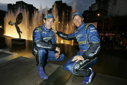 Petter Solberg and Chris Atkinson in the centre of Cordoba for the ceremonial start