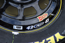 All NASCAR rims are labeled and bar coded