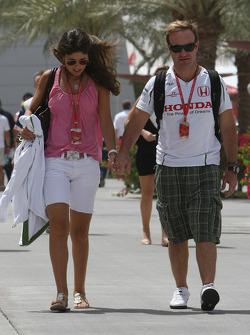 Silvana Barrichello, Wife of Rubens Barrichello and Rubens Barrichello, Honda Racing F1 Team