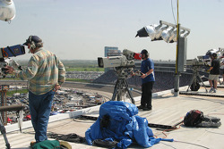 TV crews on the roof