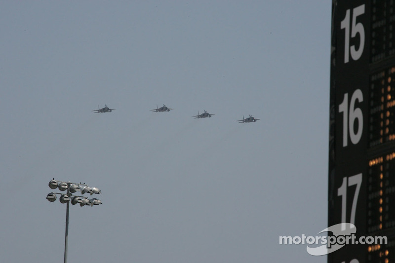 Pre-race fly over