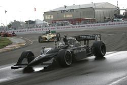 Race winner Graham Rahal celebrates