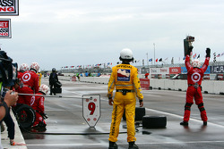 Target Chip Ganassi Racing prepares for a pit stop