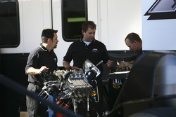Ashley force crewmembers work over engine