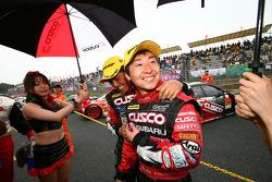 GT300 third place Tetsuya Yamano, Kota Sasaki