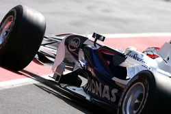 Robert Kubica, BMW Sauber F1 Team, on slicks