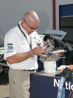 NASCAR official at work