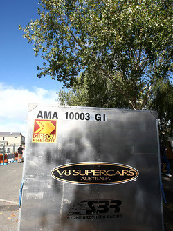 V8 Supercar freight transport boxes