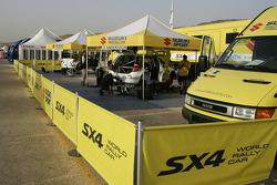 Suzuki World Rally Team service area