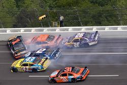 Crash in turn two