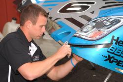 Michael Shank Racing technician at work