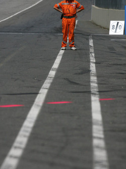 Marshall in pitlane