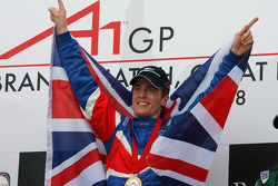 Podium: race winner Robbie Kerr