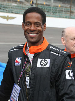 Former Indianapolis Colts player, Billy Brooks, before taking a ride in the two-seater