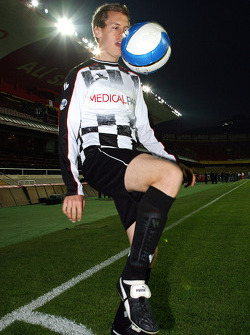 Football match Nazionale Piloti vs All Stars Team in Stadium of Galatasaray, Istanbul: Sebastian Vettel, Scuderia Toro Rosso