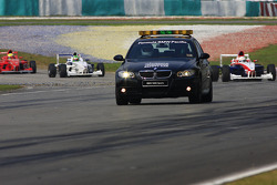 Safety car period during the race