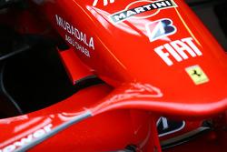 Ferrari nose cone wing detail