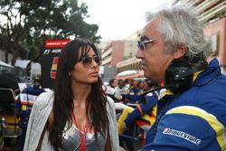 Elisabetta Gregoraci, Wife of Flavio Briatore with Flavio Briatore, Renault F1 Team, Team Chief, Managing Director