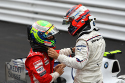 3rd place Felipe Massa, Scuderia Ferrari and 2nd place Robert Kubica,  BMW Sauber F1 Team