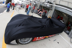 Audi Sport North America Audi R10 under wrap