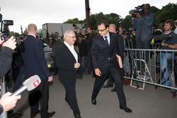 FIA deleguates enter the FIA Place de la Concorde headquarters: Nicolas Deschaux