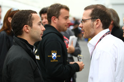 Nicolas Todt, Manager of Felipe Massa with Jacques Villeneuve