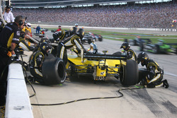 Pit stop for Tomas Scheckter