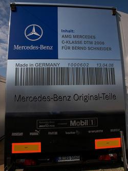 Team HWA AMG Mercedes transporter