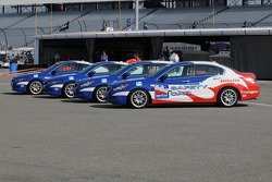 The Honda Safety Cars all lined up