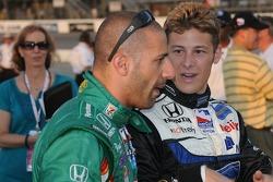 Tony Kanaan and Marco Andretti talking