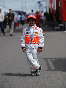 A small McLaren Mercedes fan