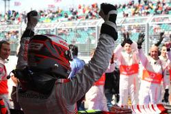 Pole winner Heikki Kovalainen, McLaren Mercedes