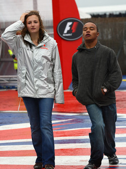 Anthony Hamilton, Father of Lewis Hamilton with the daughter of Ron Dennis, McLaren, Team Principal,