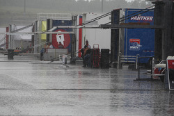Heavy rain falls on Nashville Superspeedway early in the day