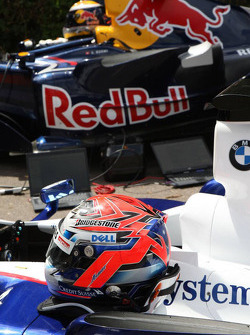 The helmet of Marco Asmer, Test Driver, BMW Sauber F1 Team- Goodwood Festival of Speed 2008
