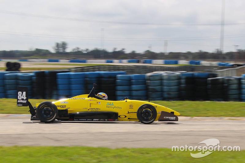 Robert Megennis during Sebring testing