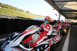 Kartrennen der Ferrari-Piloten