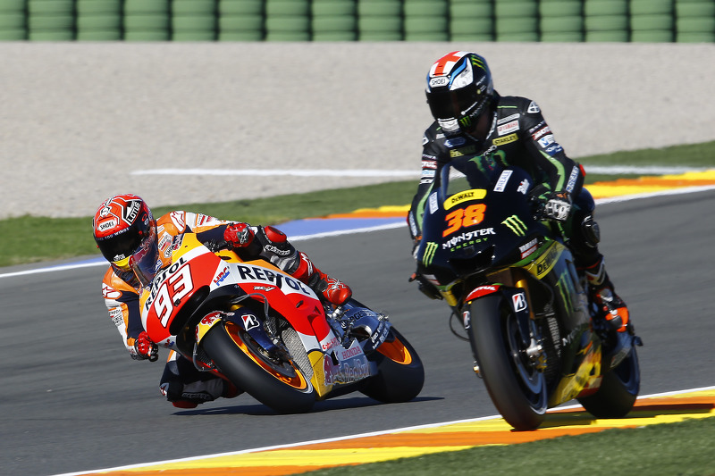 Bradley Smith, Tech 3 Yamaha et Marc Marquez, Repsol Honda Team